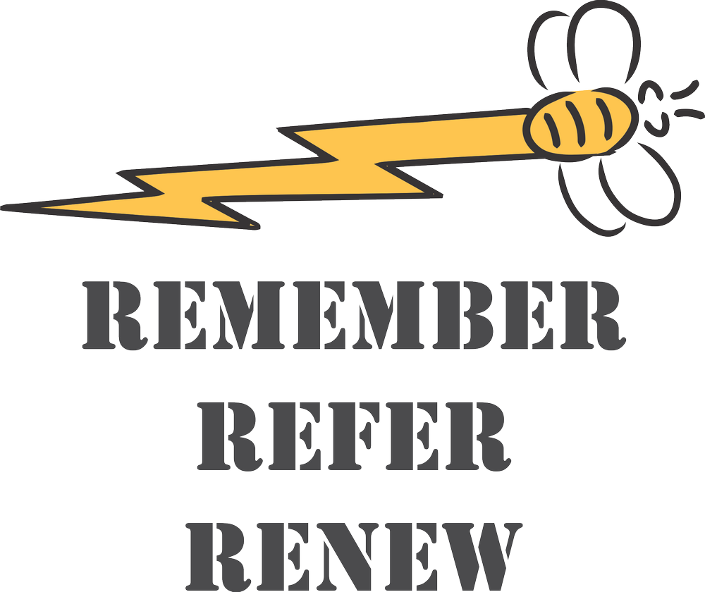 REMEMBER * REFER * RENEW