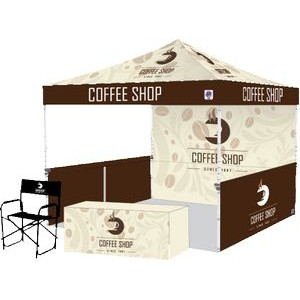 Pyramid Shelter Bundle #6 With Digitally Printed Top, Table Cover, Sidewall, Railskirts and Chair