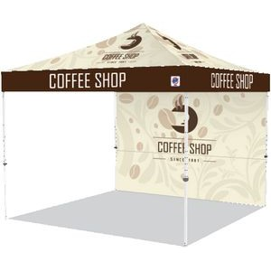 Pyramid Shelter Bundle #1 With Digitally Printed Top and 10' Back Wall
