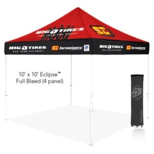 Eclipse™ 10' x 10' Color Imprint Professional Tent w/ Aluminum Frame